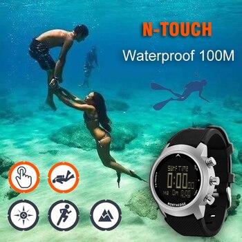 NORTH EDGE Men Smart Sport Watch Depth Gauge Altimeter Barometer Compass Thermometer Pedometer Digital Watch Diving Climbing New 4