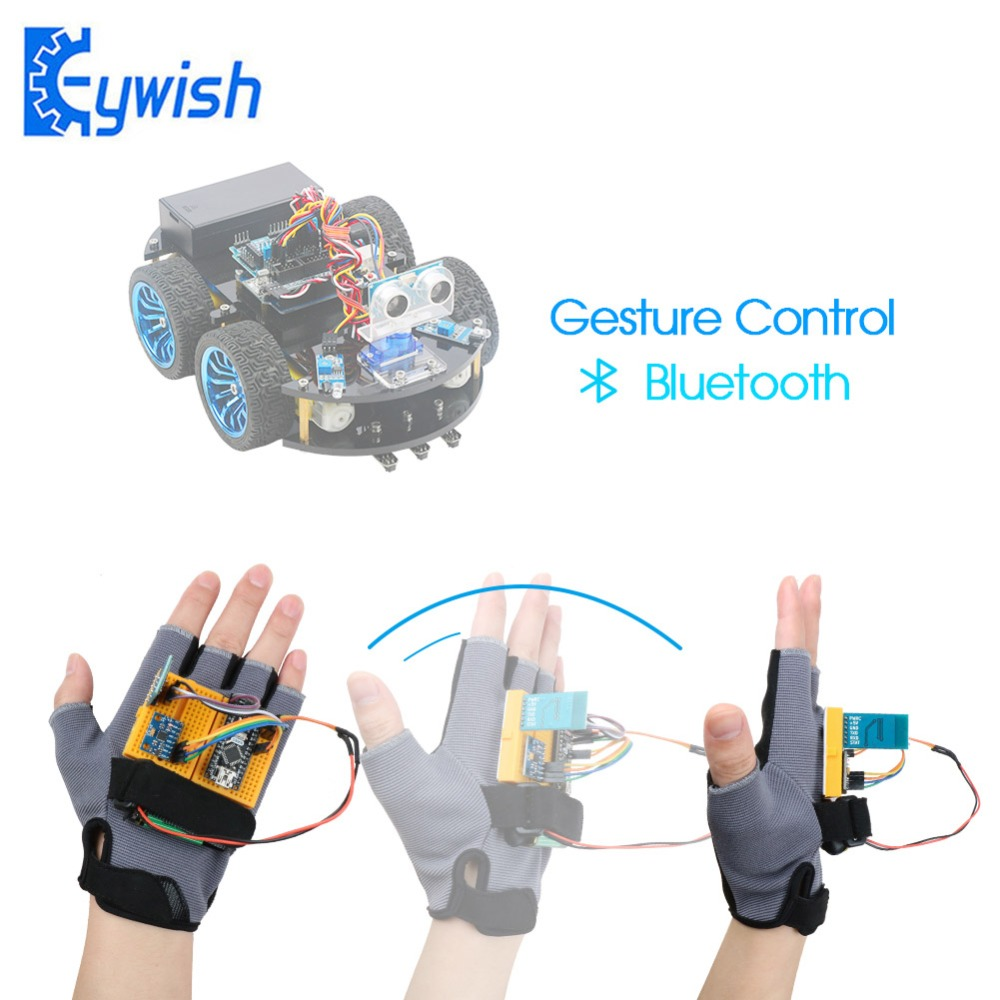 Keywish Gesture-Motion Starter Kit for Arduino Nano V3.0 Support Robot Smart Car MPU6050 6 Axis Accelerometer Gyroscope Module