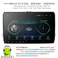EU/US Warehouse 2G android 8.1 car multimedia player for VW polo golf passat tiguan skoda yeti superb rapid for skoda gps navi