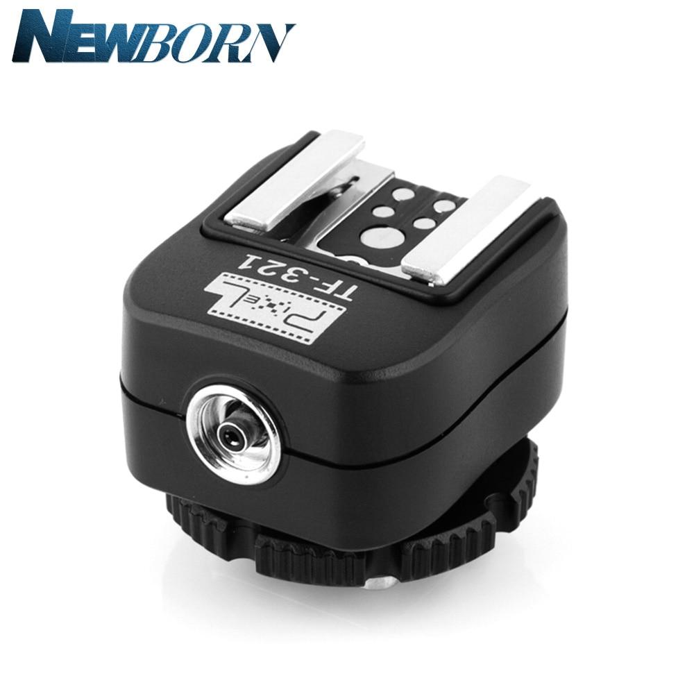 Pixel TF-321 TTL Flash Hot Shoe Hotshoe Adaptateur Convertisseur Pour Canon 580EX 550EX 600D 700D 70D 6D 60D 550D 5D Caméra et blitz