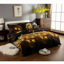 2017 New Space Wolf Cotton Bedding Set Luxury Bedding sets Animal Print Housse De Couette 3d Queen Duvet Cover Sets Ropa Cama