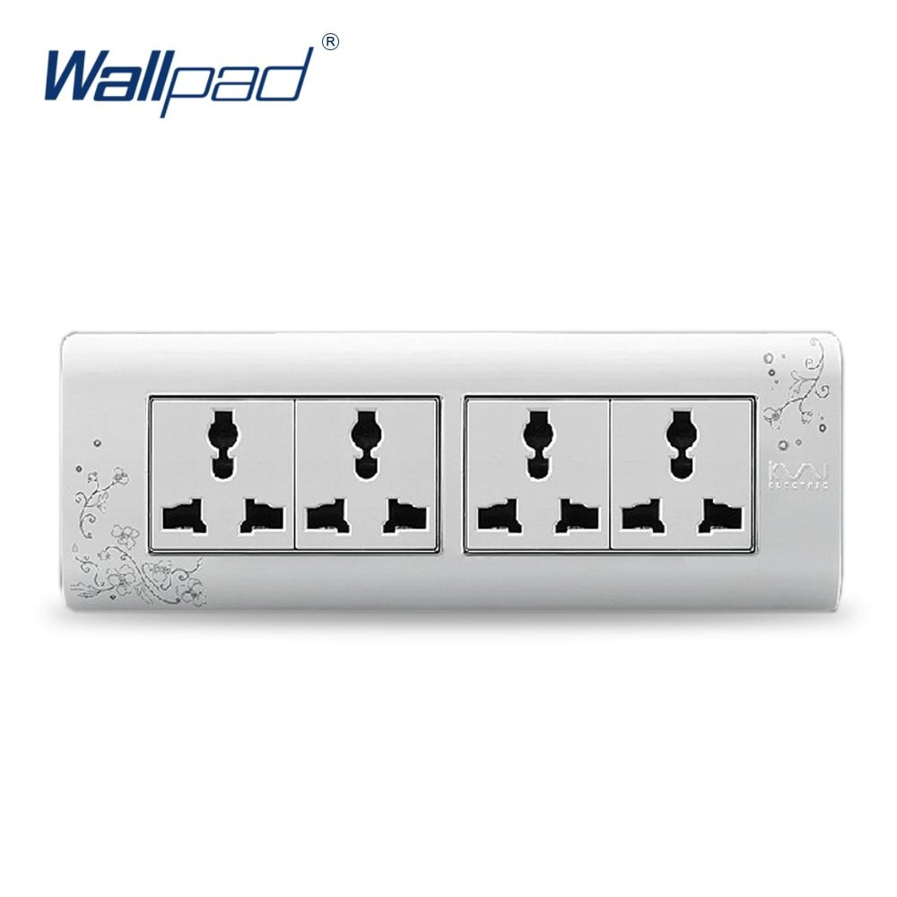 2018 Hot Sale 12 Pin Multifunction Socket Wallpad Luxury Wall Switch Panel Plug Socket 197*72mm 10A 110~250V