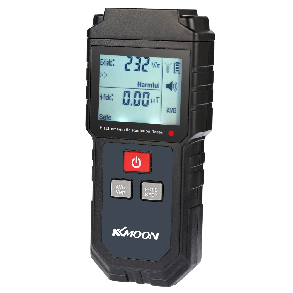 KKmoon Handheld Digital LCD EMF Meter Electromagnetic Radiation Tester Electric Field Magnetic Field Dosimeter Detector