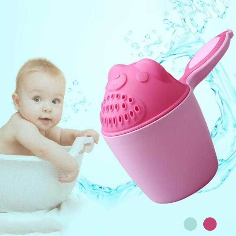 1 Piece Baby Washing Cup Wash Your Hair Bath Watering Brush Cups Bear Bunny Shampoo Washing Cup Bathroom Supplies W4