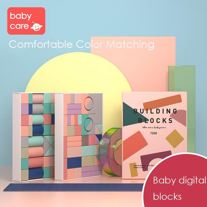 Bébé blocs de construction numériques en bois Cube jouets 81 pièces enfants assembler des jouets multicolore enfants chiffres éducatifs ensembles de construction