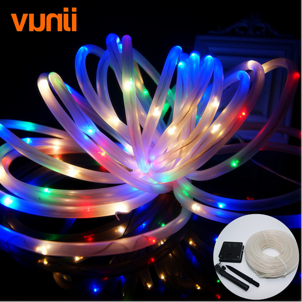 Vunji 10M 100 LED IP65 Casing Solar Powered Copper String Lights Fairy light for Gardens Homes Patio Party Outdoor Decoration