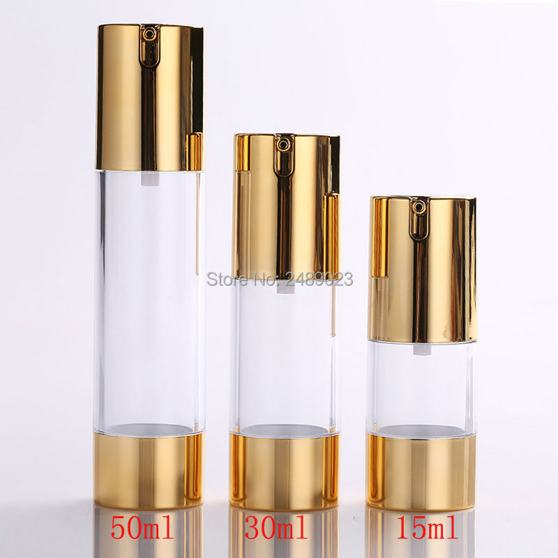 Make up Tools 15ml 30ml 50ml Empty Refillable High grade Airless Vacuum Pump Cream Lotion Bottle Cosmetic Containers 100pcs/lot-in Refillable Bottles from Beauty & Health    1
