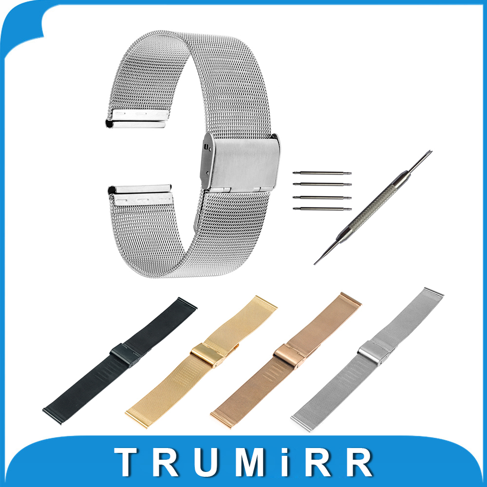 16mm 18mm 20mm 22mm Milanese Watchband for CK DW Timex Men Women Watch Band Mesh Stainless