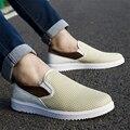 La nueva primavera de los hombres respirables zapatos casuales versión Coreana de la junta antideslizante de los hombres de malla zapatos de superficie de malla zapato