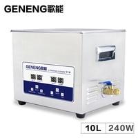 10L Ultrasonic Cleaning Machine Washing Engine Oil Degreasing Hardware PCB Mainboard Lab Use Bath Ultrasound Tank Time