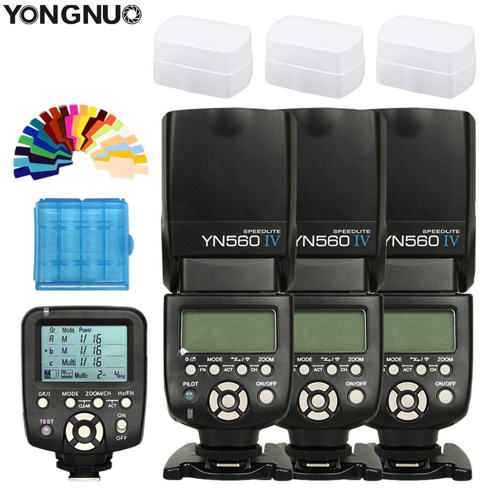 3 шт. YONGNUO YN560 IV yn560iv Speedlite для Canon Nikon + YN560TX контроллер беспроводной Горячий башмак Универсальный flash триггер