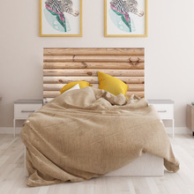 Nordic 3D simulation log childhood bedside sticker Imitation wood decorative wall bedroom background