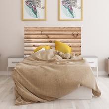 Nordic 3D simulation log childhood bedside sticker Imitation wood decorative wall sticker bedroom background wall sticker wood texture pattern wall sticker