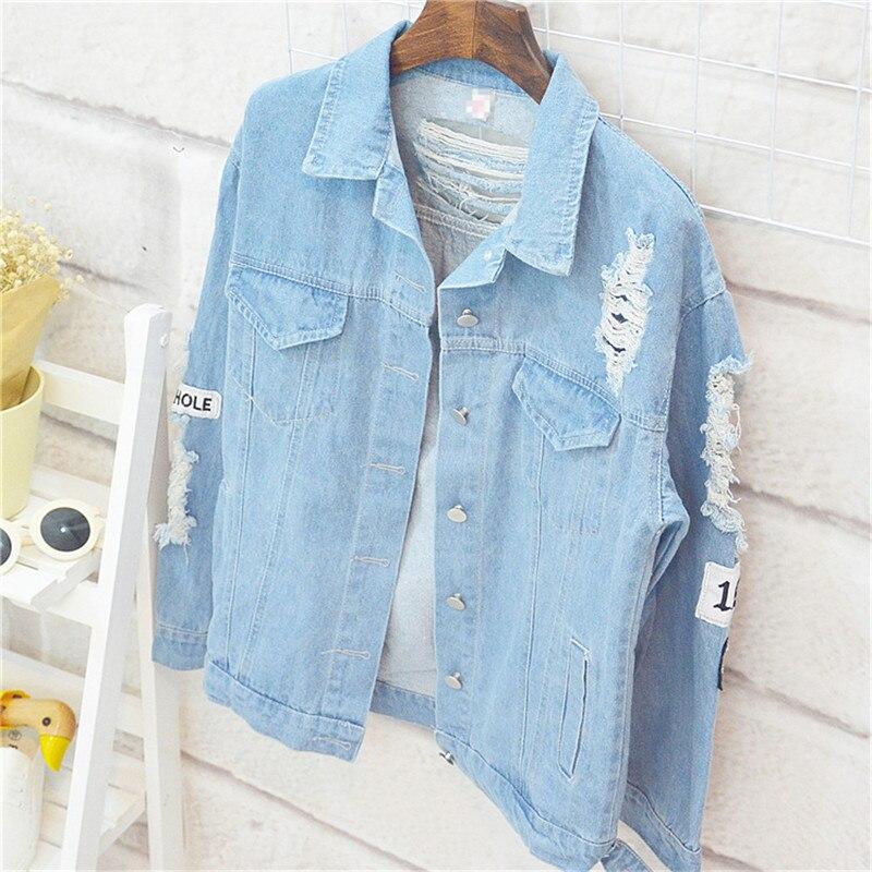 KPOP はどこに心ジャケットジーンズ Outerwears Bangtan ボーイズジン同じ女性デニム秋のジャケット  グループ上の レディース衣服 からの ベーシックジャケット の中 2