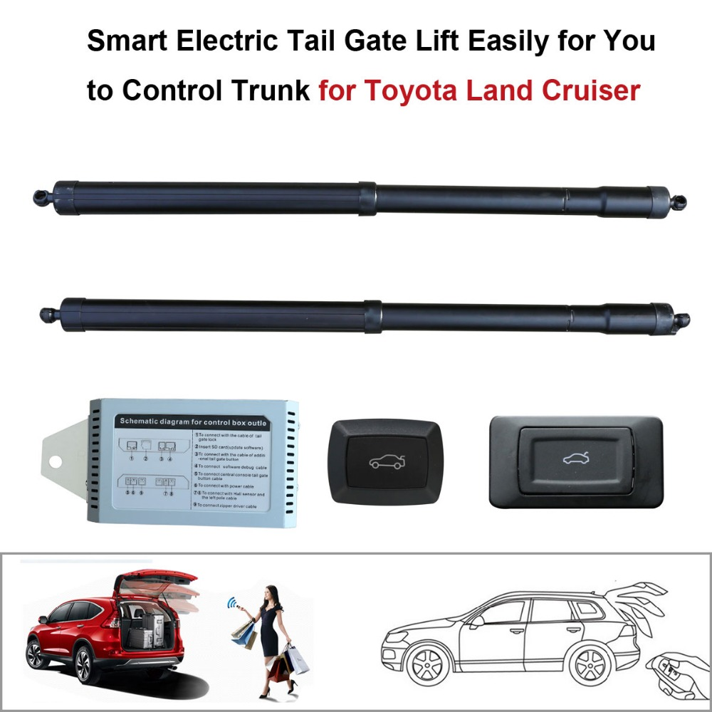Smart Auto Electric Tail Gate Lift For Toyota Land Cruiser Control By Remote Drive Seat Tail Gate Button Set Height Avoid Pinch