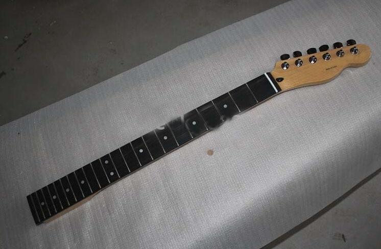 2 pcs Top qualité Nitro Satin Nature couleur Érable Canadien Strat guitare cou touche palissandre 22 frettes manche avec tuner peg