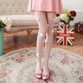 Hairball moda fina meias Brancas sexy transparente mulheres meias calças justas Da Menina pequena fresco