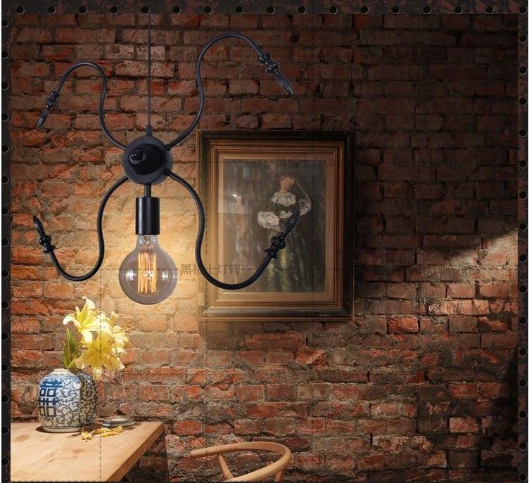 Led E27 Spider Loft Lamps Vintage Pendant Lights Edison Bulb Lamp Novelty Fixtures Lighting Antique Industrial Iron Light 5pcs e27 led bulb 2w 4w 6w vintage cold white warm white edison lamp g45 led filament decorative bulb ac 220v 240v