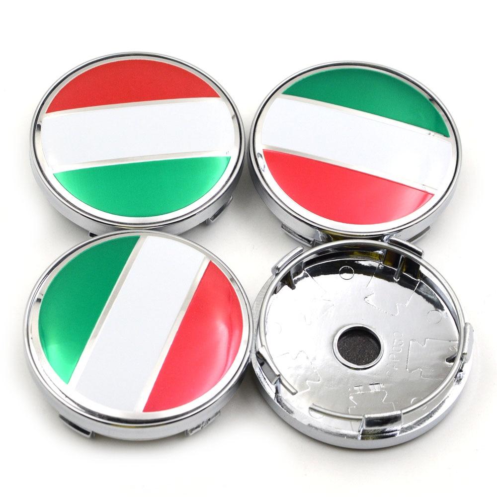 Gzhengtong 4pcs/set 60mm Italy Flag Logo Car Steering Tyre Wheel Center Hub Cap Rim Covers Caps Emblem Badge Decal emblem