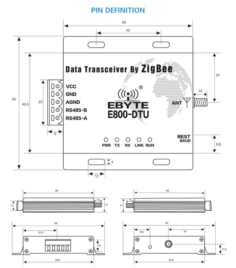 E800-DTU(Z2530-485-27) Zigbee CC2530 RS485 Transceiver (5)