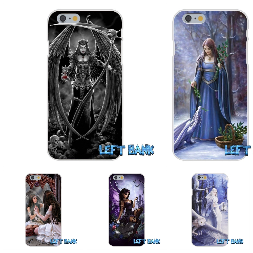 Anne stokes gothic prayer Soft Silicone TPU Transparent Cover Case For iPhone 4 4S 5 5S 5C SE 6 6S 7 Plus