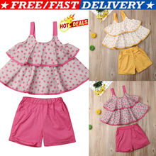 Toddler Kids Baby Girl Outfits Clothes Floral Sleeveless Vest T-shirt+Shorts Set Summer Princess Costume Kids Fashion 1-7Y summer new baby girls clothing set flowers print t shirt vest denim shorts girl kids 3pcs clothes toddler girl costume