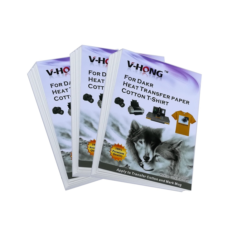 v-hong brand High quality A4 size specification of pure cotton T-shirt heat sublimation paper