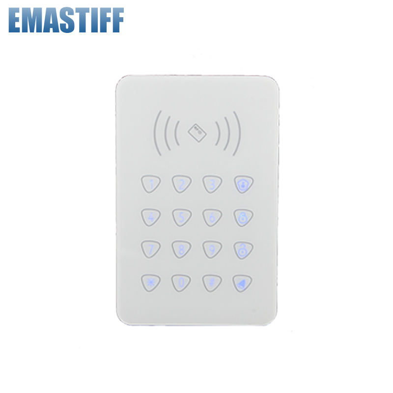 Free shipping Two-way arm/disarm keypad wireless with RFID reading disarm and door bell keypad for G90B G90E Smart alarm system secual box v2 etiger wifi alarm system gsm safety alarm system with rfid reading keypad arm disarm alarm system