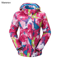 2016 New Women Winter Sport Snowboard Jacket Ladies Snowboard Ski Jackets Clothes Windproof Waterproof Breathable Skiing