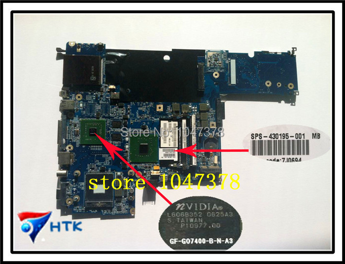 ФОТО Wholesale LAPTOP MOTHERBOARD FOR HP DV5000 DDR2 WITH GRAPHICS 430195-001 100% Work Perfect