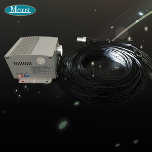 Image 2 - Maykit星空天井サウナledスターライトで5ワット、12ボルトled光源80ピース1.5ミリメートルブラックpvcカバー繊維リモコン
