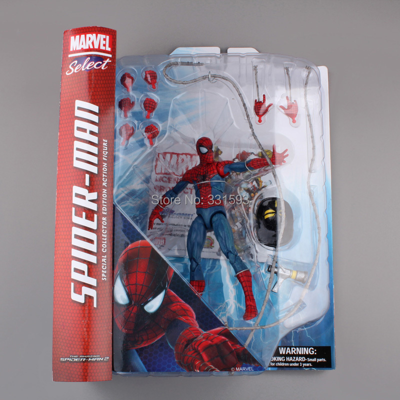 Select The Amazing Spider-Man Special Collector Edition Action Figure Super Heroes Toy 7 18CM Free Shipping super heroes thor 2 ii the dark world pvc action figure model toy 1640cm free shipping
