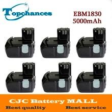 6X High Quality Power Tool Rechargeable Battery For Hitachi EBM1830 327730 BCL1815 DH18DL DS18DL DV18DL 18V 5000mAh Li-ion