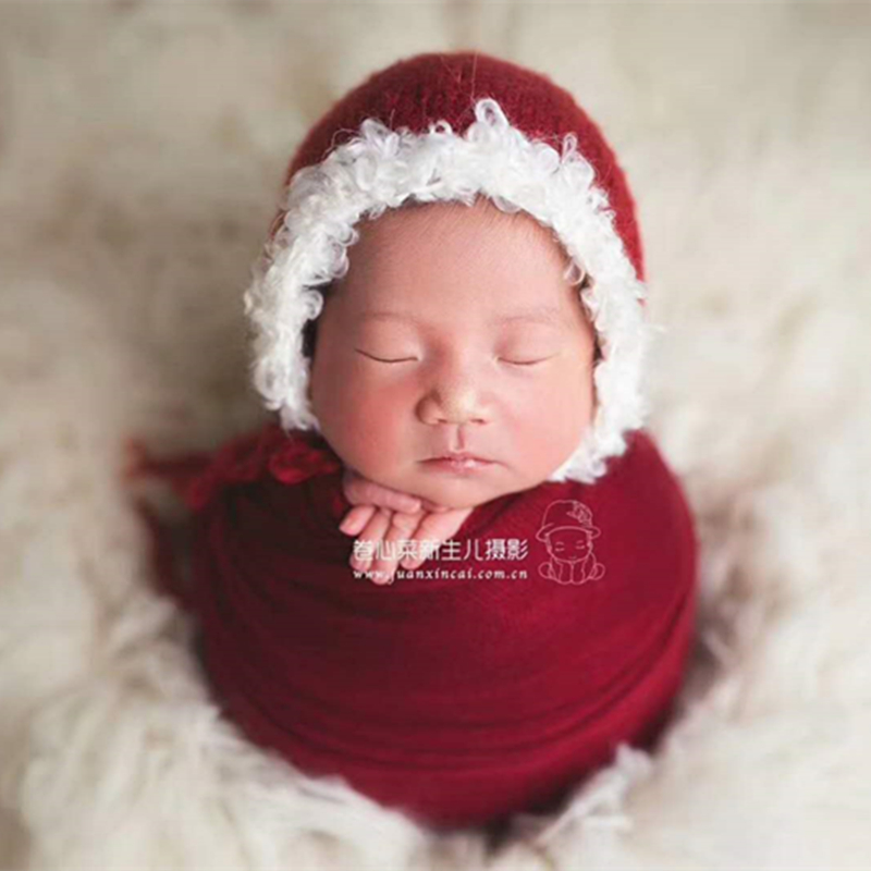 911227c0ce8 Kids Crochet Santa Hat Father Christmas Bonnet newborn Christmas prop Red  and white Santas elf Christmas hat -in Hats   Caps from Mother   Kids on ...