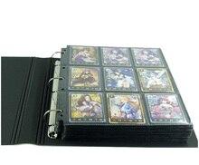 30 страниц торговые игровые карты настольная игра альбом игральные карты держатель Альбом для Pokemen CCG MTG Yugioh прозрачный/черные страницы