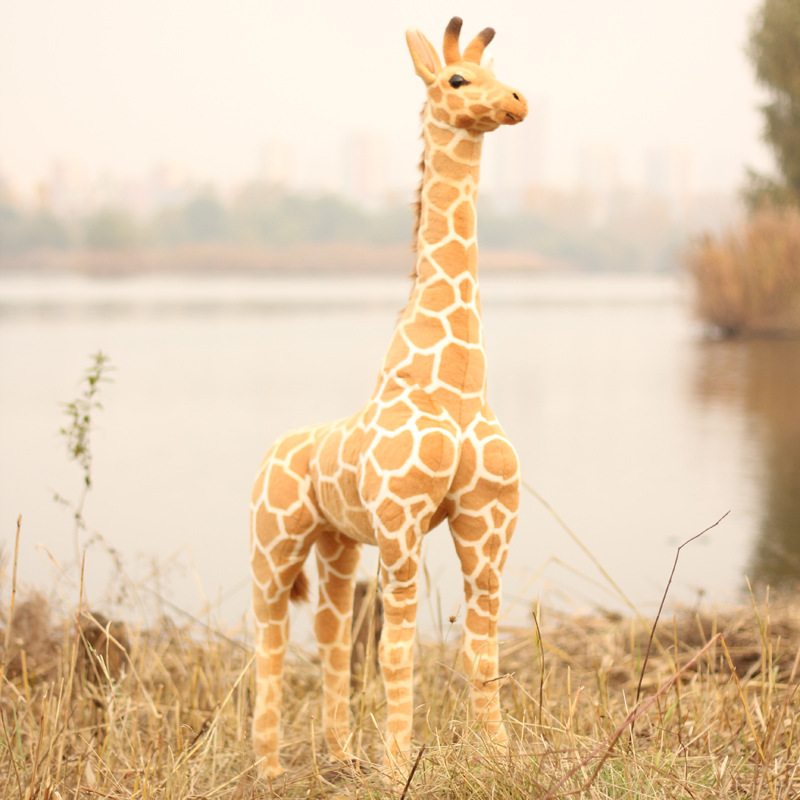 Big Size Simulation Giraffe Plush Toys Soft Animal Giraffe Doll Cute Stuffed Animal Dolls High Quality Birthday Gift Kids Toy giraffe animal series many chew toy pet