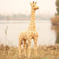 Big Size Simulation Giraffe Plush Toys Soft Animal Giraffe Doll Cute Stuffed Animal Dolls High Quality Birthday Gift Kids Toy