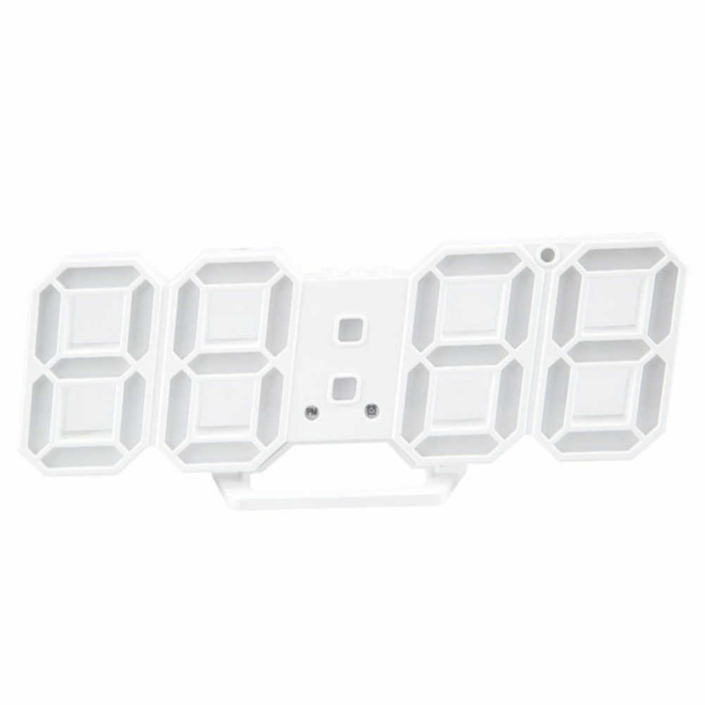 Original 3D LED Clock Modern Wall Clock Digital 12/24 Hours Calendar Thermometer Clock mechanism Alarm Snooze Alarm Clock