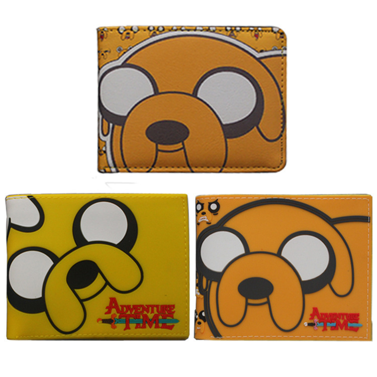 anime Adventure Time wallet Jake Cartoon PU Zipper Coin Bifold purse men women short wallets japan anime love live wallet cosplay men women bifold coin purse