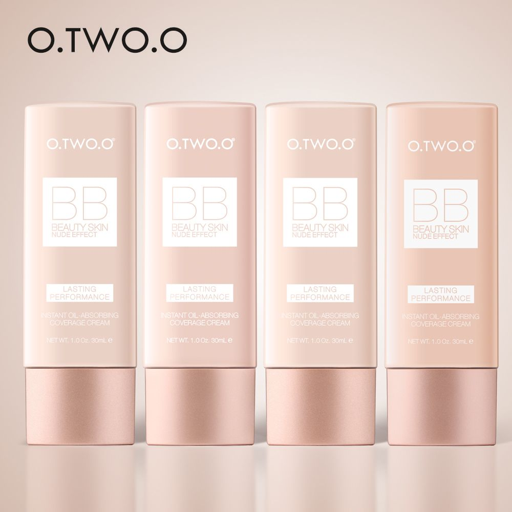 O.TWO.O Full Cover BB&CC Cream 30ml Foundation Face Makeup Concealer Oil Control Moisturizing Women Cosmetic