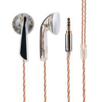 Wooeasy DIY MX760 Graphene Earbud In Ear Earphone Earplug Headset HIFI Bass Earbud With Silver Plated