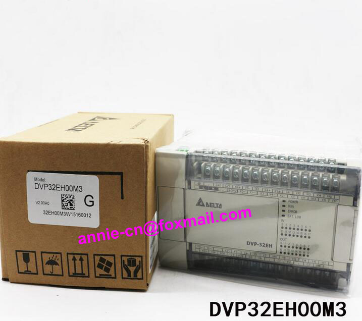 100% New and original DVP32EH00M3 Delta PLC 32points host,16DI/16DO(NPN transistor) dvp32es200t delta new original plc es2 series 100 240vac 16di 16do transistor output