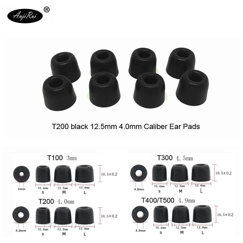 20 pcs/10 paires. ANJIRUI Conformité T200 M Noir Casque 4.0mm calibre bouchons D'oreille Coton Conseils Mousse mémoire Éponge oreille coussin