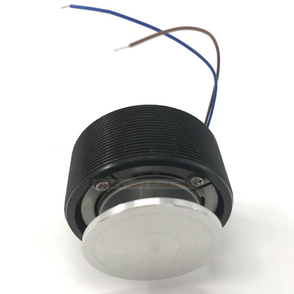 Черный 44 мм мощный аудио Вибрационный динамик/мини-динамик diy портативный динамик будет петь Настольный Вибрационный динамик
