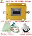 Conjunto completo de calidad Superior LCD GSM 900 MHZ mobile booster de señal GSM, repetidor de la señal Del Teléfono GSM 900, gsm amplificador de la señal, 500m2 cobertura