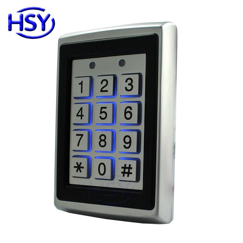 7612 Standalone Access Control Metal Case RFID 125Khz Proximity EM Card Entry Lock Door Keyboard Single Door Keypad Reader