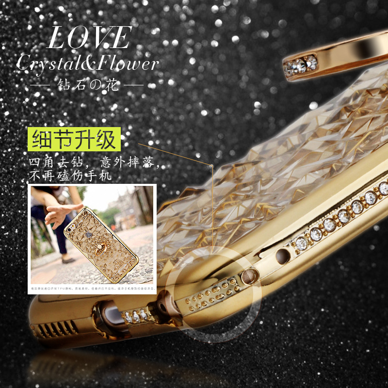 HTB1bGgTQYrpK1RjSZTEq6AWAVXaj For iPhone 11 Pro XS Max XR Case Luxury 3D Soft Ring Capa For iPhone 5 6 6S 7 8 Plus Ring Silicon Glitter Rhinestone Stand Cover