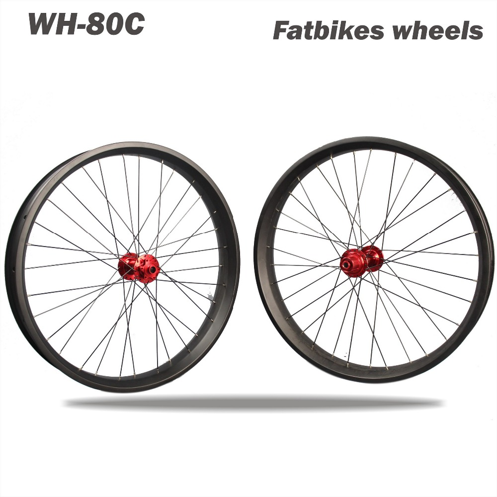 Chinese Carbon Fat Bike Wheel,Carbon Wheels Clincher 26er*65/80/100mm Carbon Fat Bike Frame Fatbike Wheelset free shipping carbon fat bike rims 26er snow rims fat wheels bike wheels 90mm fat bike rim