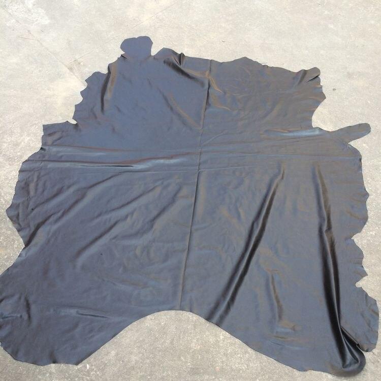 Черный из мягкой натуральной телячьей кожи Материал продажи на целый кусок