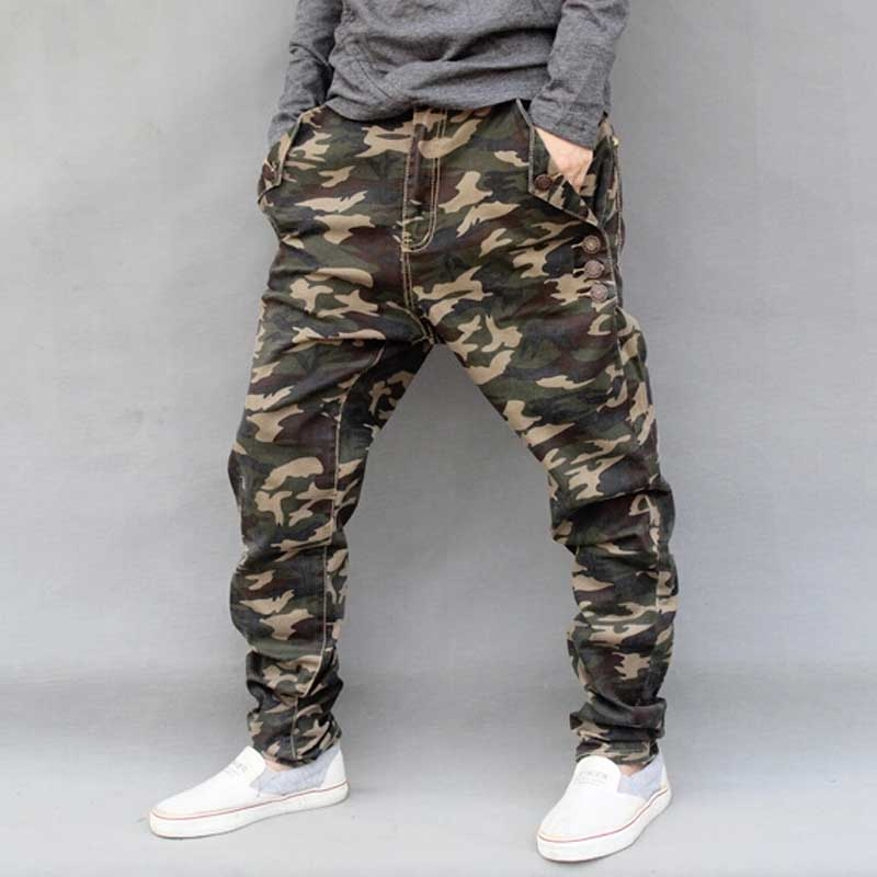 1e18c574237 Men s Military Camouflage Harem Jeans Cotton Plus Size Hip Hop Pant Men  Baggy Cargo Pants Loose Mens Joggers Trousers M 6XL-in Harem Pants from  Men s ...